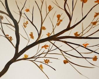 The Last of Fall - Original Acrylic Painting by Jamies Art 30x40