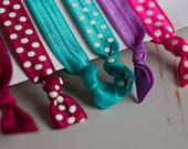FOE Hair Ties, FREE SHIPPING Deep Jewel Tones, Knotted Fold Over Elastic, Emi Jay inspired, Anthropologie inspired
