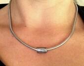 Olive Branch - Heavy Duty - Silver Necklace