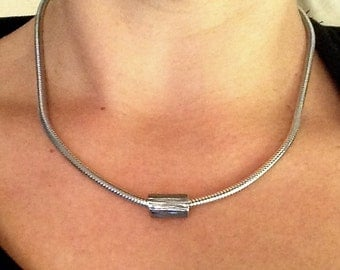 Olive Branch - Heavy Duty - Silver Necklace