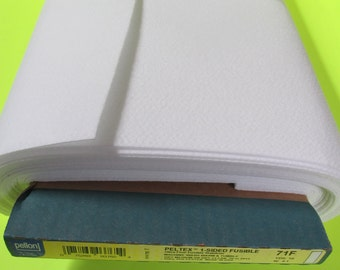 Pellon Peltex 71F Fusible Interfacing, 20 wide, white- yards