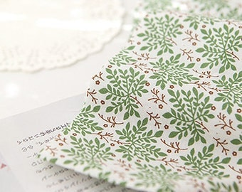 Green Natural Floral cotton, U001
