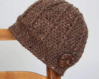 Coconut Shell Perfection Hat, Accessories, Women, Crochet Beanie, Brown Hat, Girls, Winter, Gift, Clothing, Holiday Gift, Women's Gift