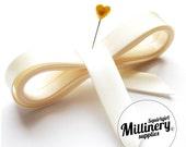 20mm Ivory Satin Bias Binding Ribbon 5 yards (4.57m)