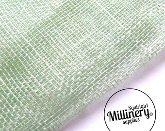 Sinamay Fabric Mint Green (1/2 yard) for Millinery, Fascinators & Hat Making