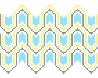 Geometric Arrow Cross Stitch Pattern