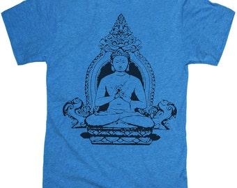 Mens BUDDHA T-shirt --- unisex -- 12 COLOR OPTIONS sm,med,lg, xl, xxl, skip n whistle