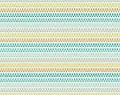 Crazy Stripe in Teal from Boy Crazy from Riley Blake by the Half Yard
