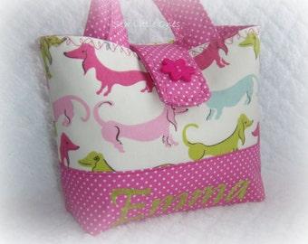 Personalize Hot Dogs Pink Handbag-Little Girls Purse Etsykids team