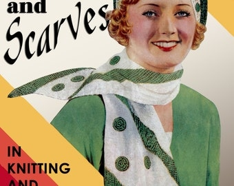 Weldon's 6D (239) c.1930's - Berets & Scarves in Knitting and Crochet