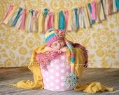 Newborn Baby Girl Elf Hat