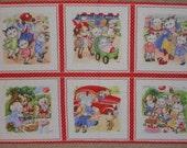 Lakehouse Fabrics, Pam Kitty Picnic, Panel, 1 panel