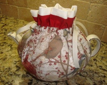 Bird and Berries On A Vine Tea Pot Cozy