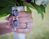 Two Tiered Bridal Bouquet Photo Charm - Double Sided
