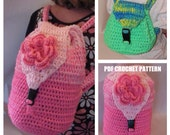 Backpack Pattern - Large and Small Crochet for School Gym Dance Sleepovers - Instant Download Crochet Pattern