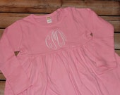 Personalized Pink Dress Monogram