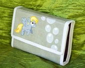 3DS XL Hard Case Hand Painted with Derpy and Bubbles