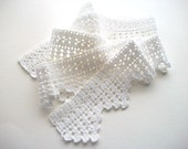 White Crochet Trim Handmade Cotton Lace Heirloom Quality