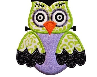 Frankenstein Owl Applique