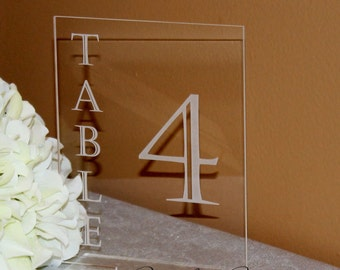 Acrylic Table Numbers for Wedding Reception 1-99