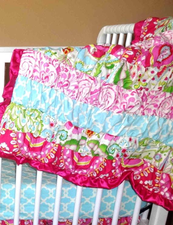 Ruffle Blanket In Kumari Garden Fabric