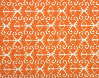 Spa by Michael Miller Fabric Spa Ikat White on Orange
