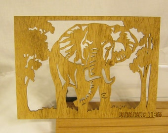 ELEPHANT SCROLL Saw PLAQUE
