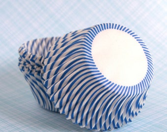Cupcake Liners - Blue Stripe Cupcake Papers (100)