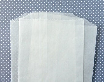 """Party Favor Bags, Glassine Bags, Transparent Bags, Holiday Gift Bags - (100 BULK) 6.75 x 4.5"""""""