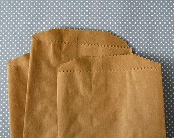 "Kraft Brown Paper Bags - 5 x 7 3/8"" - Blank - Party Favor Bags (100) Wedding Favor Dessert Table Goodie Bags"