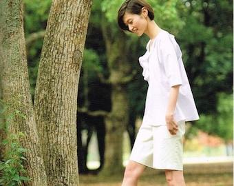 Easy Hand-Sewn Clothes - Japanese Sewing Pattern Book, Women Clothing - Emiko Takahashi - Sewing Tutorial, Simple & Kawaii Design - B1374