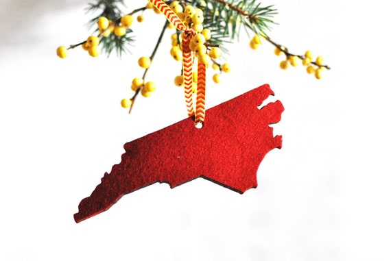 North Carolina Ornament Carolina Christmas Ornament Felt