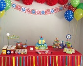 Sesame Street Party Garland, Carnival Party, Circus Party, Elmo, Christmas, Candyland Party, Lego Party, Cars Party, Trucks