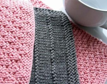 KNITTING PATTERN-Basket Weavin', Mini Basket Weavin', Wide Wale, Dishcloth Patterns