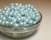 Light Blue Fondant Pearls, Edible Pearls, Cupcake Decoration, Cakes with Pearls, Blue Wedding Cake Decoration, Baby Boy Cake Decorations