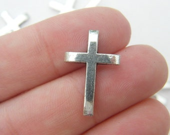20 Cross embellishments  antique silver tone C66