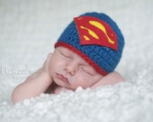 Baby boy hat, baby girl hat, superhero nursery, superman, baby shower gift, coming home outfit, photography prop, superman beanie, batman