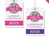 Disco Dance Party - Personalized DIY printable favor tags