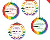 """Art Party - Personalized DIY printable 2"""" favor circles"""