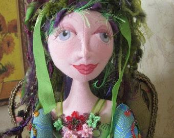 Beaded Soft Sculpture OOAK Art Doll