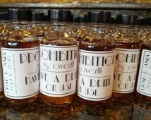 Custom Prohibition is Over. Mini Bottle Labels, Wedding Favors, Mini Liquor Bottle Label, Mini Bar Labels, Bachelorette Bachelor Party Gift