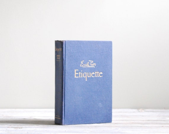 Emily Post Etiquette Book: Etiquette By Emily Post Vintage 1950s Book By LittleDogVintage