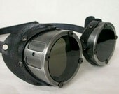 Machined Aluminum Goggles, Antiqued Silver -  GO051AN