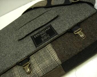 "Mens 15"" laptop Messenger Bag , 15""  Macbook ProLaptop Sleeve, tote bag, Trunk Latch,Recycled Suit Coat"