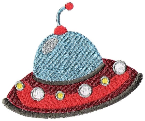 Space ship machine embroidery design fun space by embroidalot for Space embroidery patterns