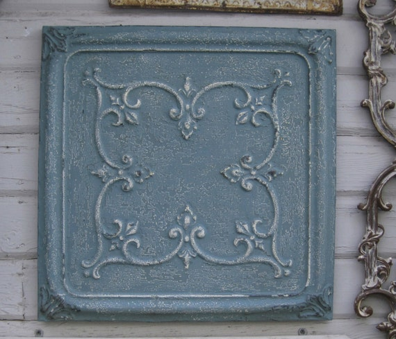 Framed Antique Tin Ceiling Tile 2x2 Circa By Driveinservice