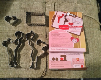 Kookie Kultura Love Cutters - 4 cutter set