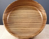 Hand Turned Wooden Bowl - Zebrawood