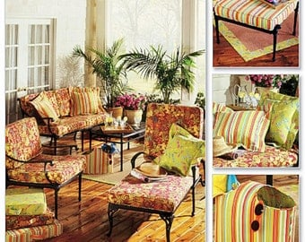 Seat Cushions Pattern, Outdoor Seat Cushions Pattern, Butterick Sewing Pattern 4759