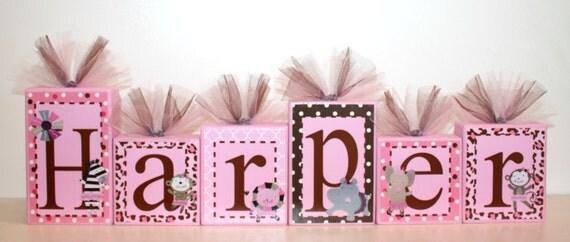 Harper Collection Personalized name blocks TuTu cute